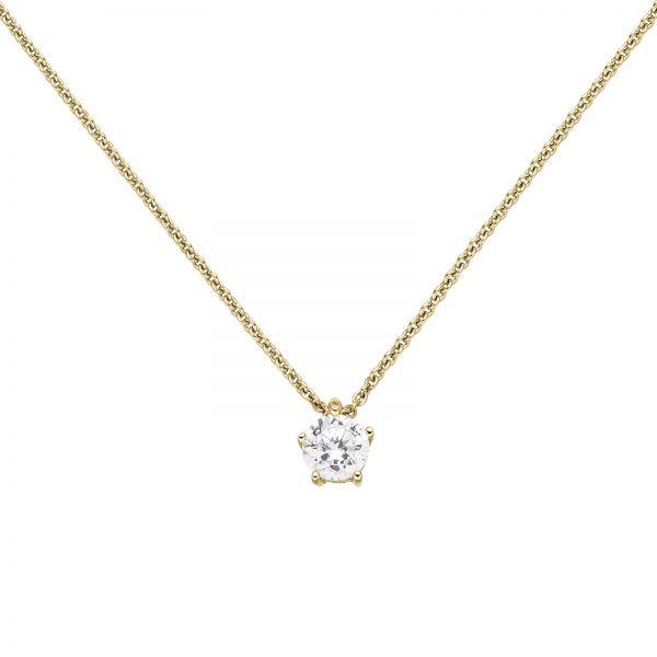 Collier mit Anhänger 585 Gold Diamant 0,70 ct. 45cm