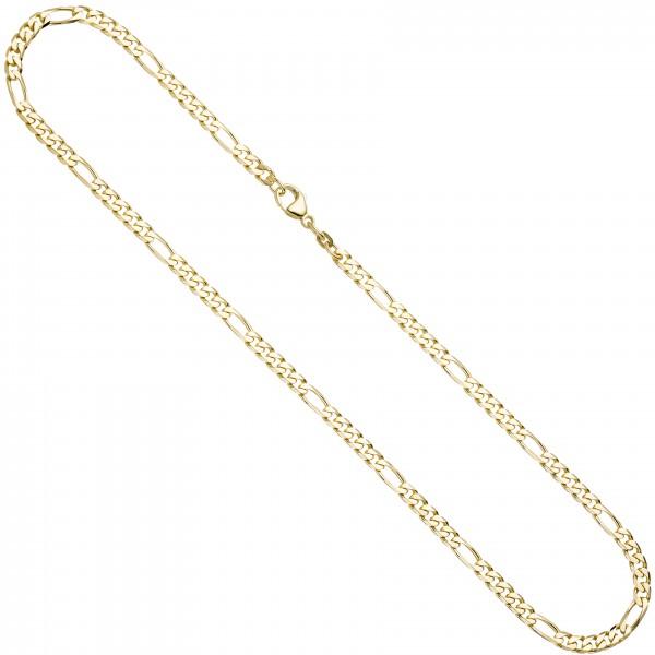 Figarokette 585 Gold 4,4mm 45cm