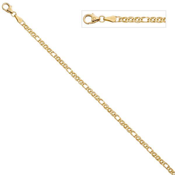 Zwillings-Panzerarmband 585 Gold 19cm