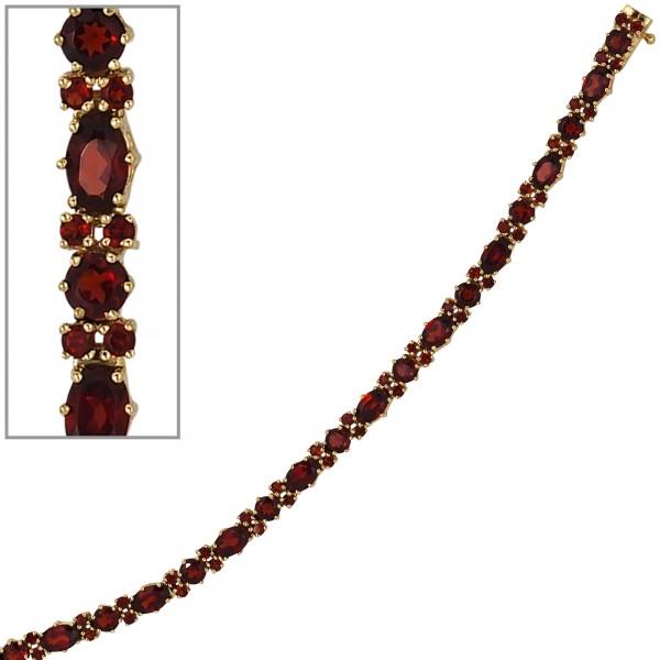 Granatarmband 333 Gold rot 19cm