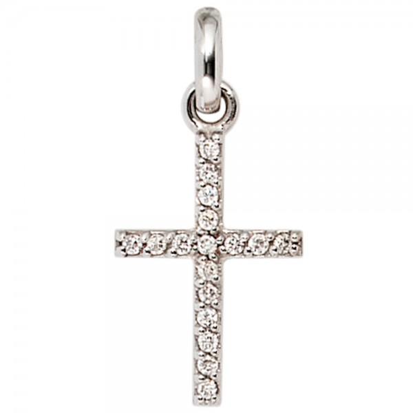 Kreuzanhänger 585 Gold Diamanten