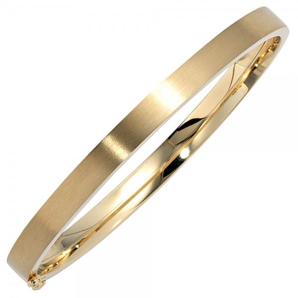 Armreif oval 333 Gold mattiert Goldarmreif