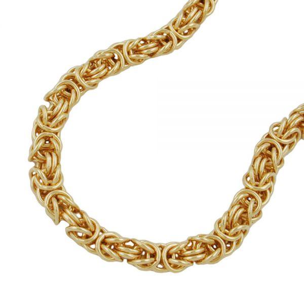 5mm Königskette rund vergoldet