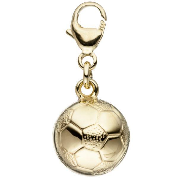 Charm Fußball 333 Gold Anhänger