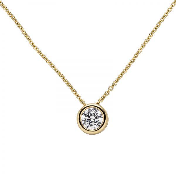 Collier mit Anhänger 585 Gold Diamant 1,0 ct. 45cm