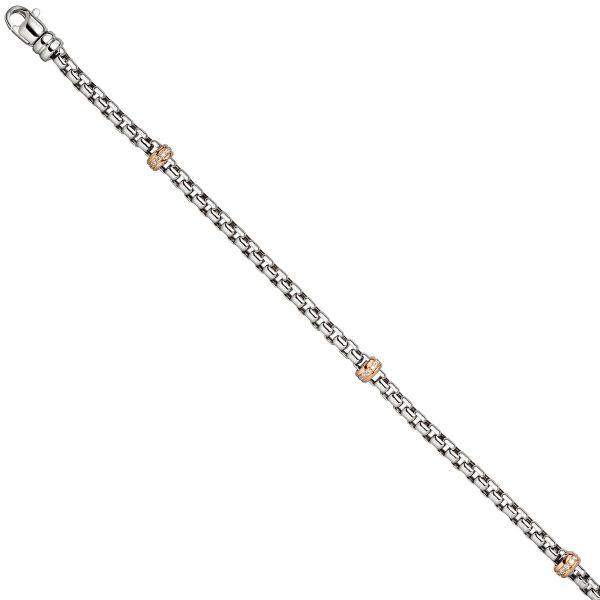 Diamantenarmband 585 Gold Rotgold bicolor 19cm