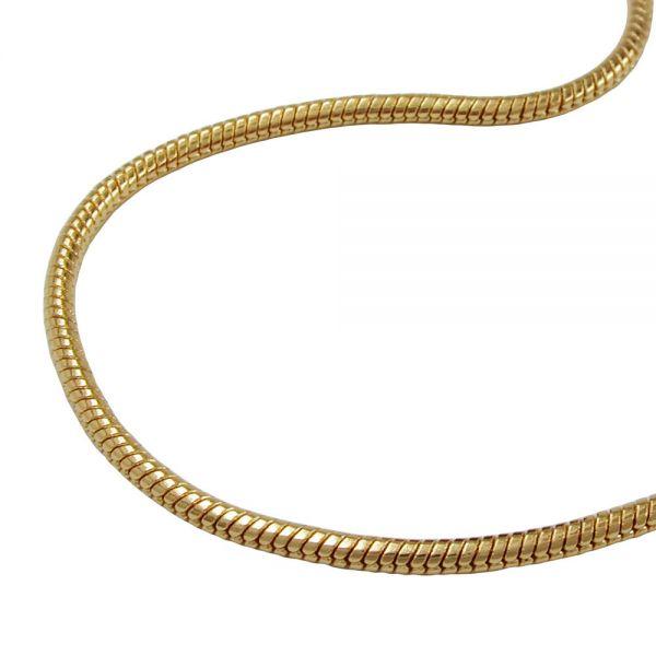 Schlangenkette vergoldet