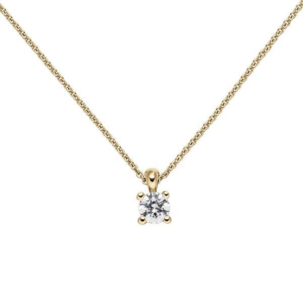 Collier mit Anhänger 585 Gold Diamant 0,50 ct. 45cm