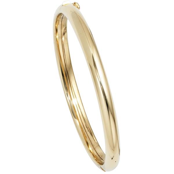 Armreif oval 585 Gold Kastenschloss