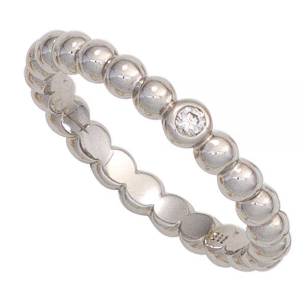 Damenring Kugel 585 Gold Diamant