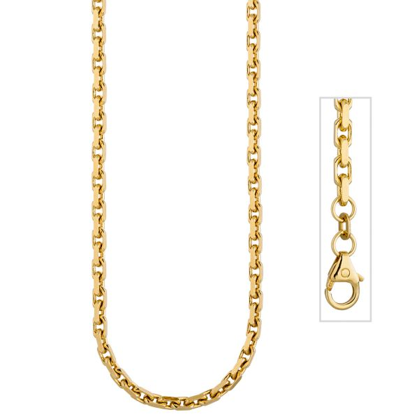 Ankerkette 333 Gold diamantiert 50cm