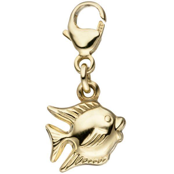 Charm Fisch 333 Gold Anhänger