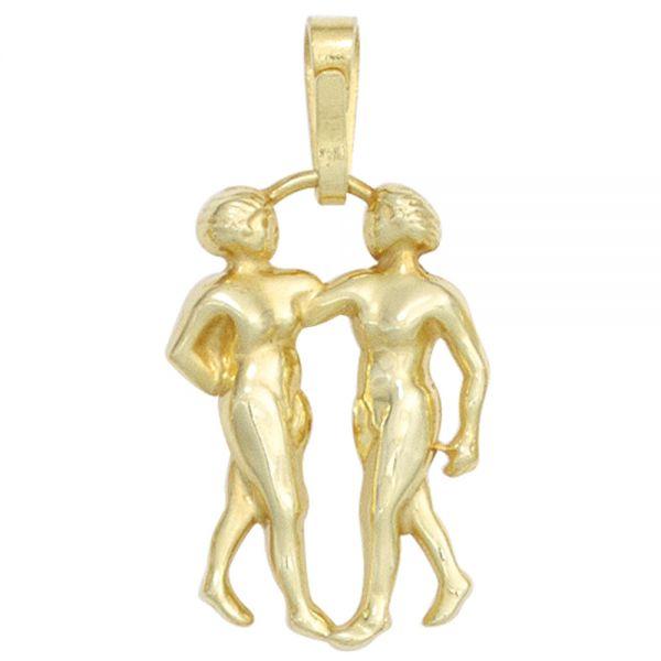 Sternzeichenanhänger Zwilling 333 Gold