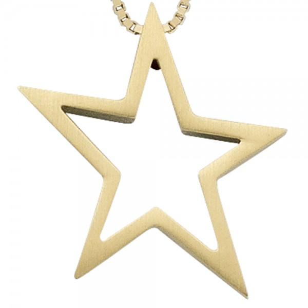 Sternanhänger Stern 585 Gold matt
