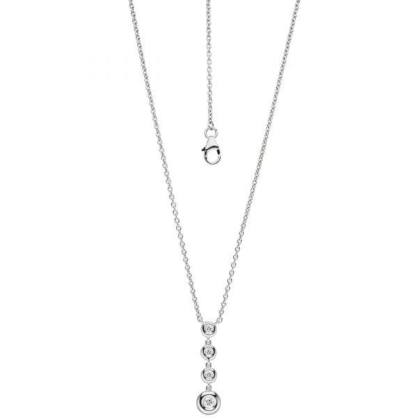 Collier mit Anhänger 585 Gold Diamanten 43cm
